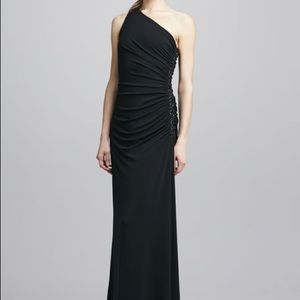 Laundry one shoulder black gown